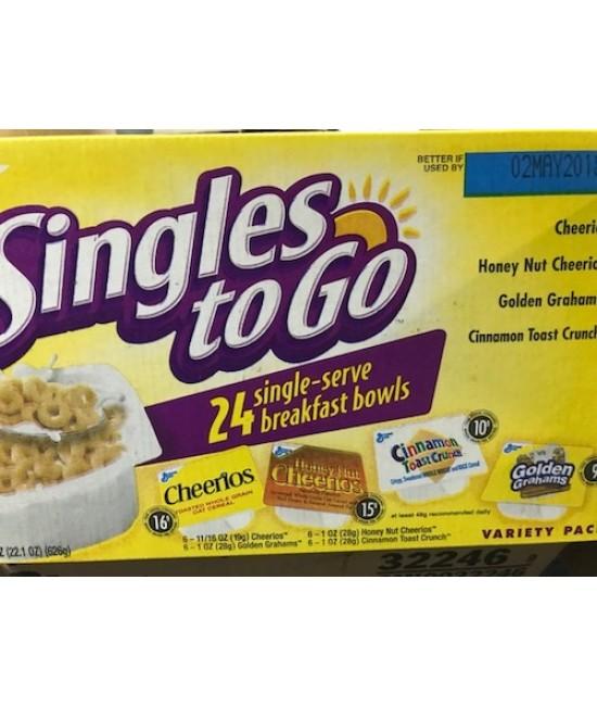 General Mills Assorted Cereal Box 96/1oz BowlPak