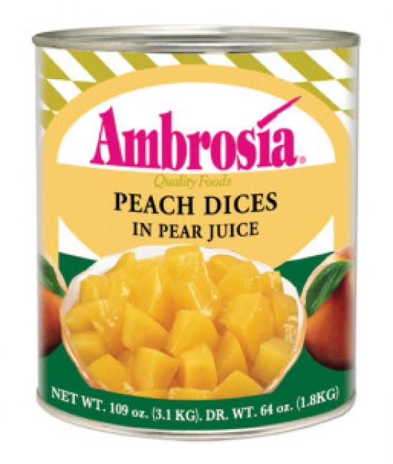 Peaches Diced LS 6/10