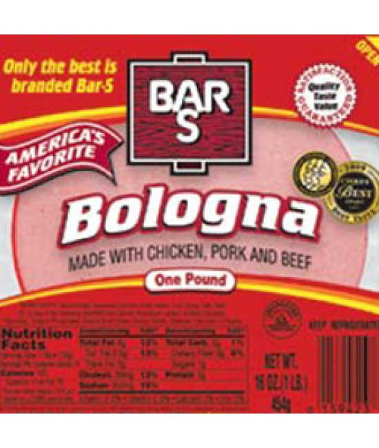 Bar S Bologna 12/16oz