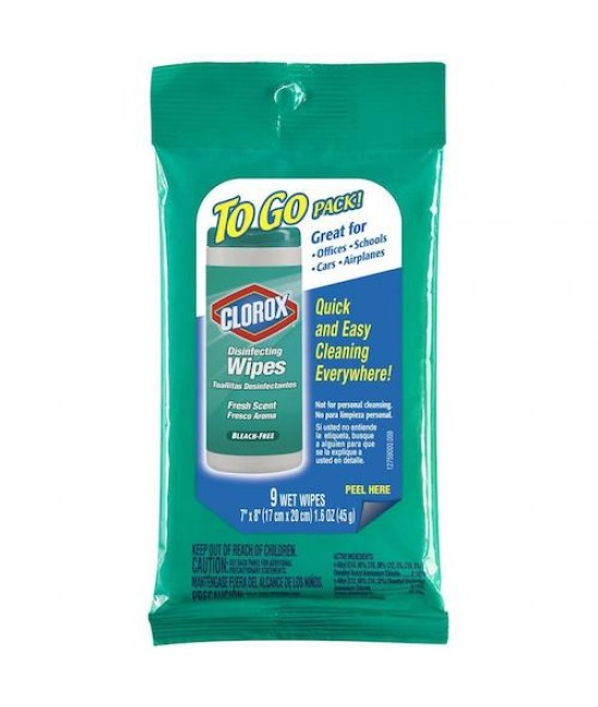Clorox to go wipes 24/9pk